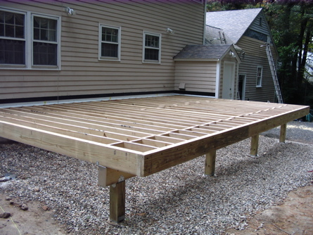 decking frame construction mlc construction services burlington ma