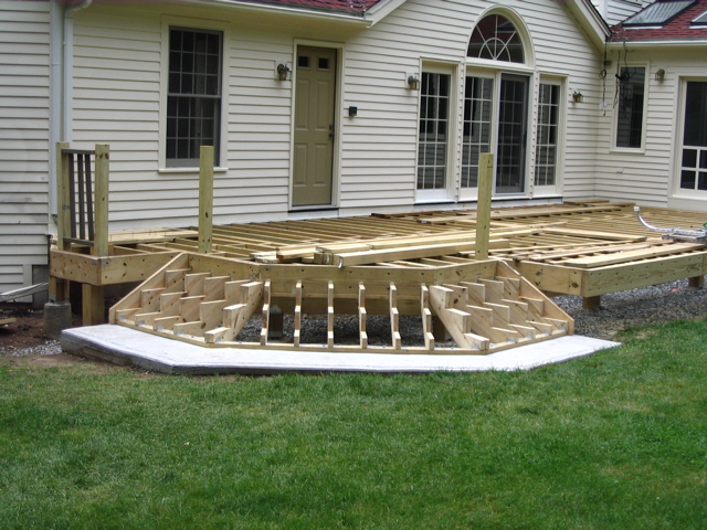 Deck Steps Construction : How to build cascading deck stairs plans diy free download
